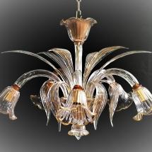 Plafoniera in vetro di Murano